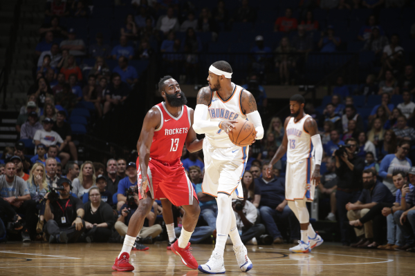 Here is the projected starting lineup for Rockets after signing Carmelo Anthony