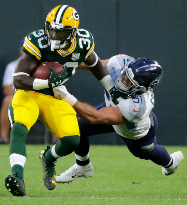 Packers Jamaal Williams accuses Steelers LB Vince Williams of injuring ankle, dirty play