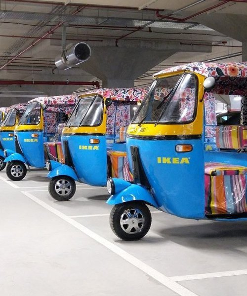 IKEA's first india store will use solar powered electric rickshaws for deliveries