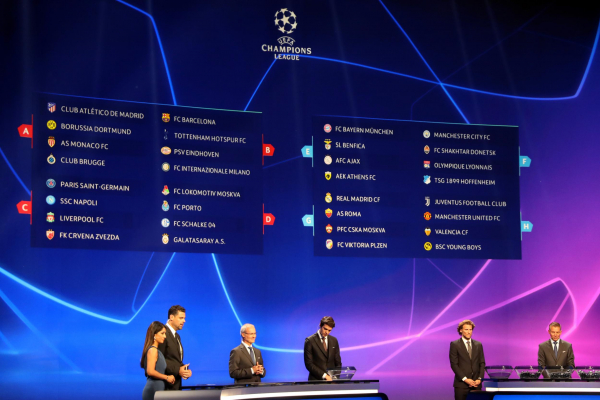 Calendario Uefa Champions League.Uefa Champions League 2018 19 Betting Odds After Group Stage Draw