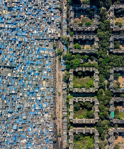 unequal scenes: drone photography documents stark social inequality across the world