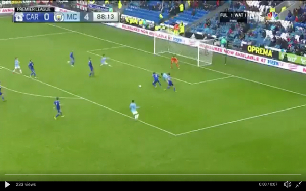 Video: Riyad Mahrez seals fine Manchester City display against Cardiff with trademark goal