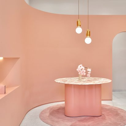 Pattern Studio creates rose-tinted interior for The Daily Edited boutique in Melbourne