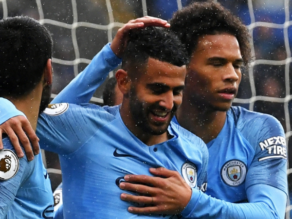 Riyad Mahrez 'happy' with first Manchester City goals