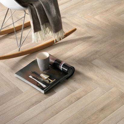 Ceramica Rondine's Greenwood tiles are designed to look like oak floorboards