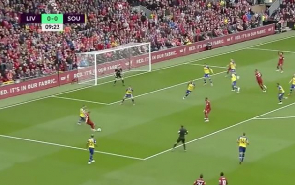 Video: Liverpool score extremely lucky goal to take lead against Southampton