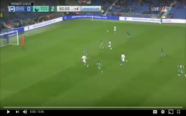 Video: Anthony Knockaert scores late consolation for Brighton as Tottenham come away with 3 points, Danny Rose blasted by these fans for this late game decision