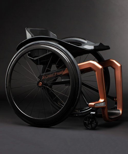 küschall employs formula 1 to perfect 'world's lightest wheelchair' made from graphene