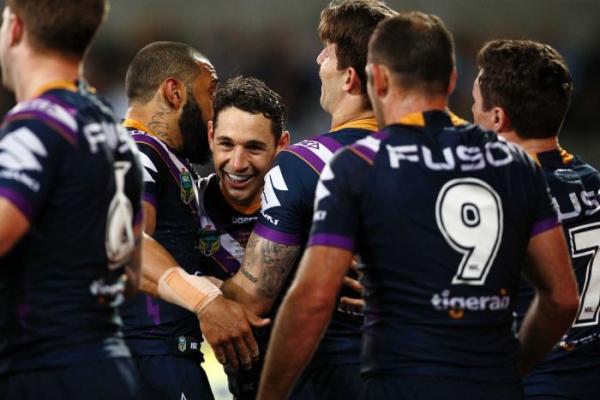 Slater stars as Storm beat Sharks to reach NRL grand final