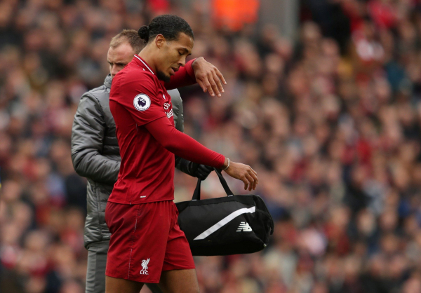Virgil van Dijk suffers injury for Liverpool against Southampton