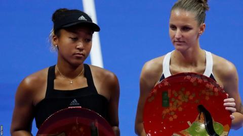 Naomi Osaka beaten by Karolina Pliskova in Pan Pacific Open final in Tokyo