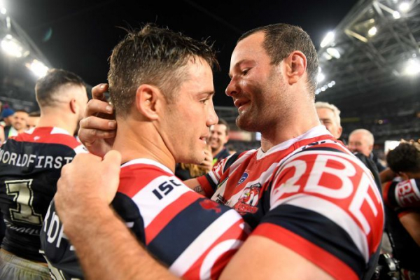 Roosters win NRL premiership as Cronk plays with broken scapula