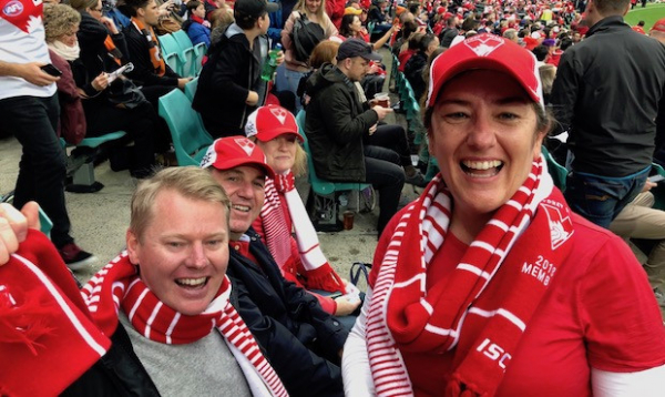 'I can't wipe the smile off my face': Swans member's lucky day