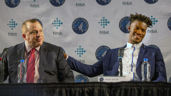 Report: Timberwolves president Tom Thibodeau 'has no interest' in trading Jimmy Butler