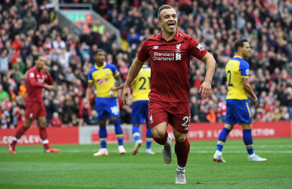 What Klopp did for Shaqiri at half-time after taking him off vs Southampton was class