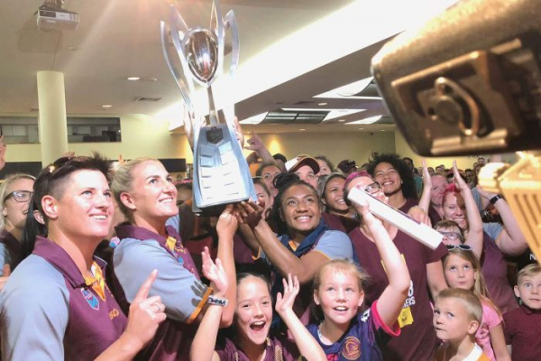 Julia took up league with the Broncos a few months ago, now she'll play for Australia