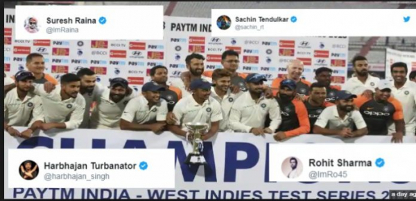 From Sachin Tendulkar To Rohit Sharma, Here's How Everyone Celebrated India's Win Against West Indies