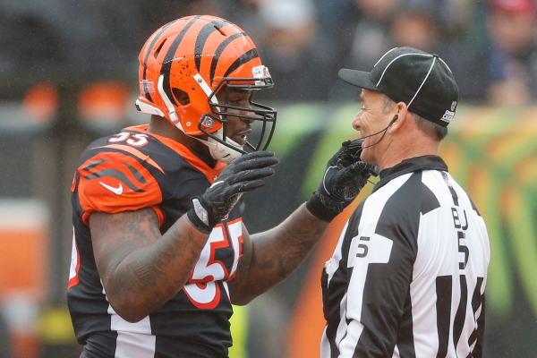 NFL fines Bengals LB Vontaze Burfict $112,000 for unnecessary roughness hits vs. Steelers