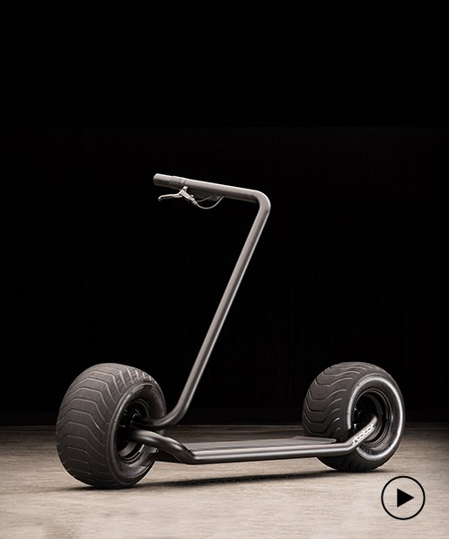 self-balancing scooter pairs a singular tube frame with some hefty wheels