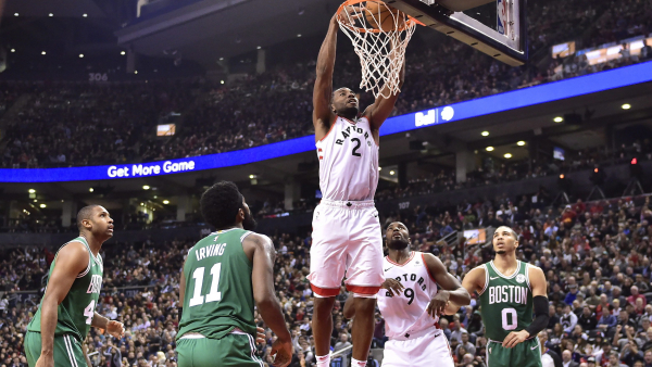 Kawhi Leonard hears MVP chants, plays like it with 31 points, leads Raptors past Celtics 113-101