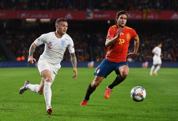 England set the standard for the future with shock win over Spain, says Tottenham defender Kieran Trippier