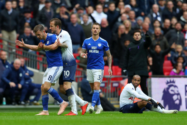 Tottenham star Harry Kane targeted by furious Neil Warnock over Cardiff City red card