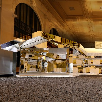 Doug Aitken installs mirrored house in historic Detroit building