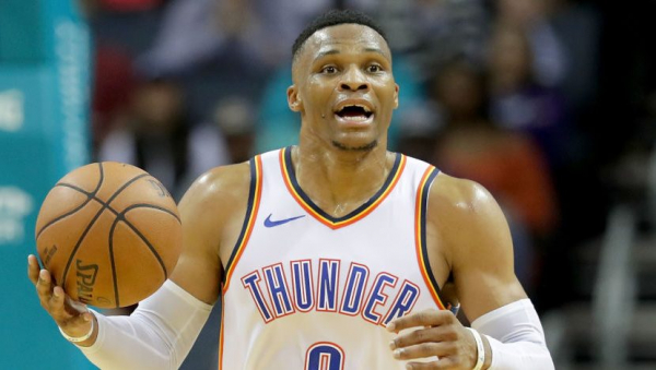"""As expected, Russell Westbrook listed as """"out"""" vs. Rockets Thursday"""