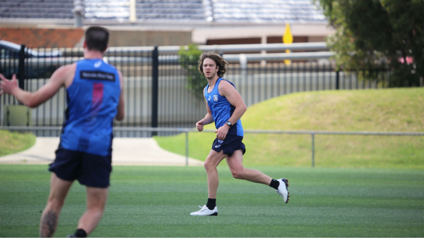 Young pups inspired by premiership Dogs' early return
