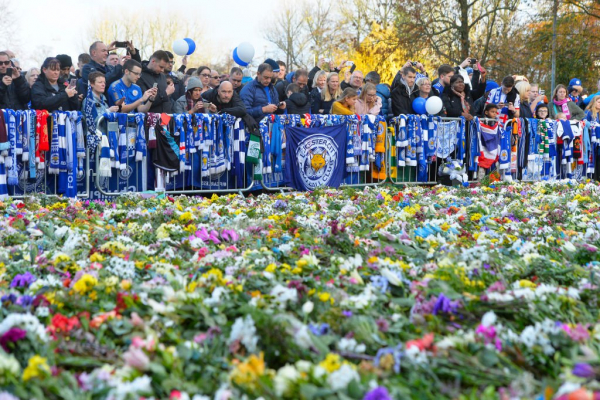 Leicester Fans March To Stadium In Honour Of Late Owner