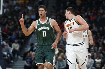 Lopez makes eight 3-pointers, Bucks beat Nuggets 121-114