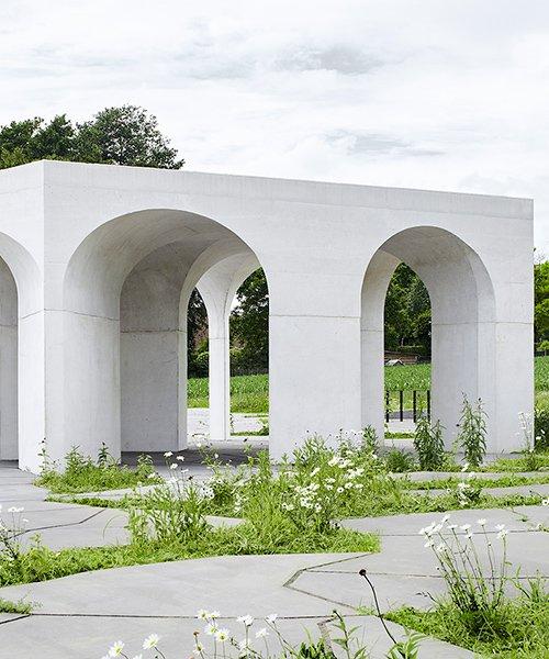 six vaults pavilion demonstrates a reinterpretation of classical elements