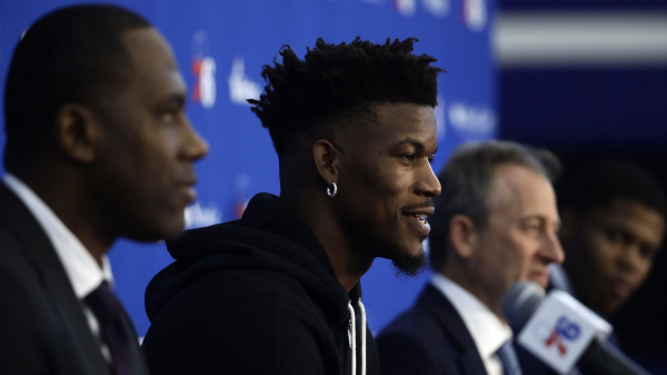 Jimmy Butler joins 76ers defending reputation from Timberwolves exit