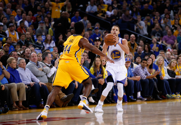 Stephen Curry is as efficient on deep threes as the NBA average dunk