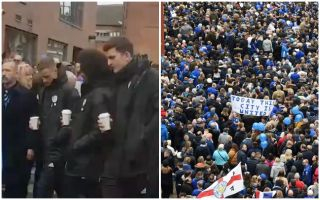 Video: Leicester City stars lead thousands of fans on 'Walk for Vichai' in tribute to late owner