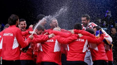 Cilic beats Pouille as Croatia win Davis Cup final