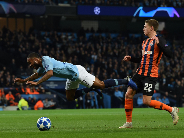 Raheem Sterling apologises for not challenging penalty decision after accidental trip