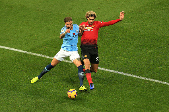 Manchester United star Marouane Fellaini played through pain against Manchester City