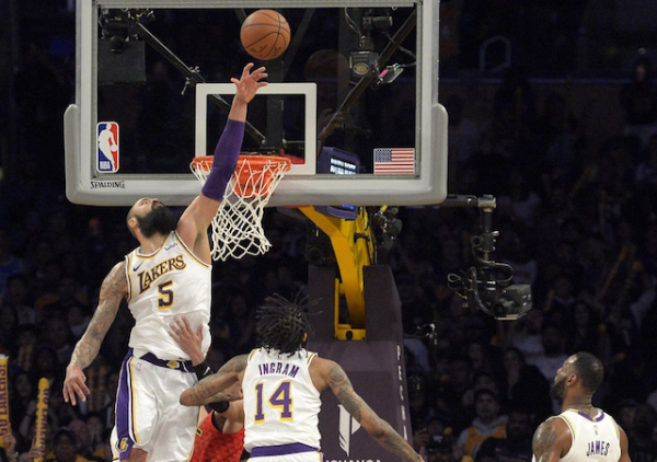 Lakers Highlights: LeBron James Dunk, Tyson Chandler's Blocked Shot Cement Win Over Hawks