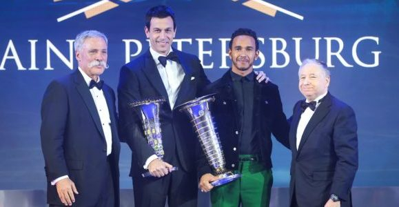 Hamilton & Mercedes F1 officially crowned at FIA Prize Giving Ceremony