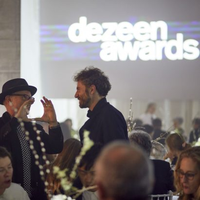 Winners of the first ever Dezeen Awards celebrate at lavish ceremony
