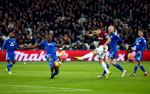 West Ham 3 Cardiff 1: Lucas Perez inspired Hammers to victory after ending goal drought
