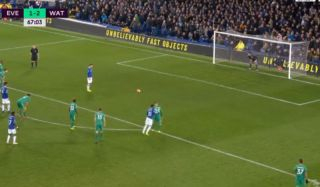 Video: Watford score twice and Everton miss a penalty in absolutely incredible five-minute spell to turn game on its head