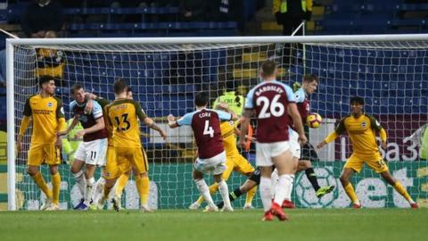 Burnley grind out win over Brighton to move out of drop zone