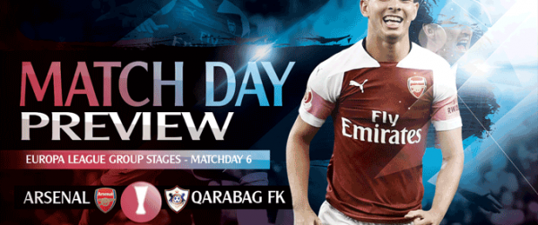 Match Preview: Arsenal v Qarabag FK; Wholesale Changes for the Win
