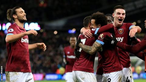 Anderson strike helps West Ham beat Palace