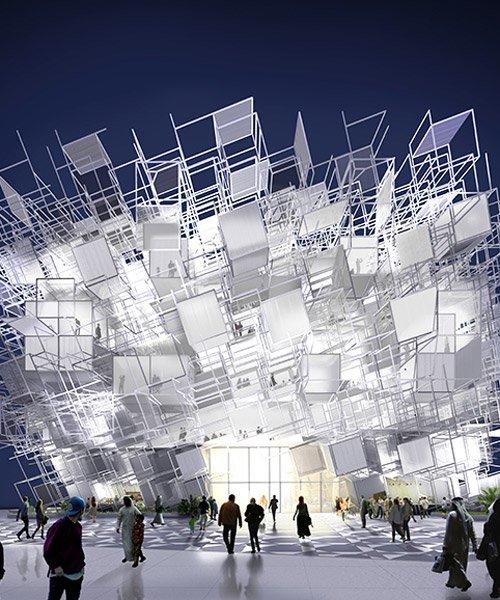 yong ju lee and atelier kj create 'elusive boundary' for korean pavilion at expo 2020 dubai
