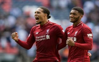 Video: Van Dijk gleefully embraces Gomez on Liverpool training pitch to celebrate his new deal