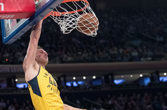 Pacers' offense rolls over Knicks in 121-106 victory