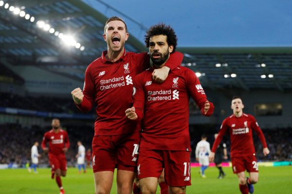 Brighton 0 Liverpool 1: Mohamed Salah penalty sends Reds seven points clear
